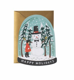 Boxed set of Snow Globe cards