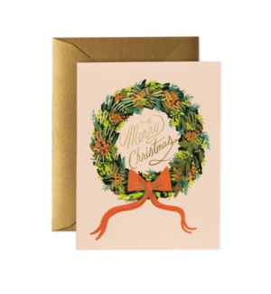 Boxed set of Christmas Wreath Card