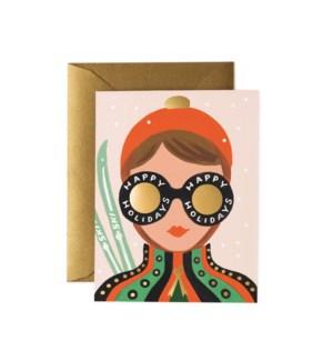 Boxed set of Ski Girl Card