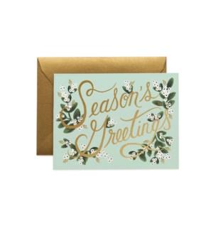 Boxed set of Mistletoe Season's Greetings Card