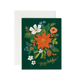 Boxed Set of Holiday Bouquet Card