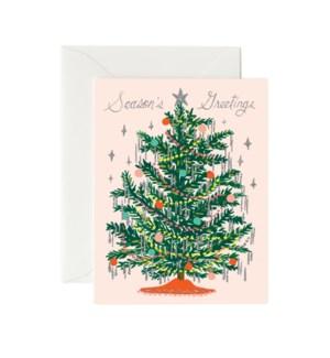 Boxed Set of Tinsel Tree Card