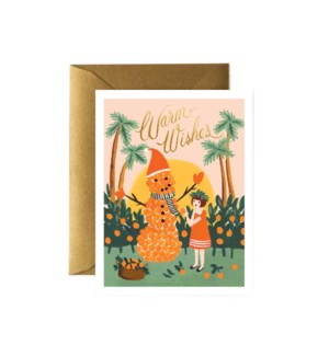Boxed Set of Warm Wishes Snowman Card