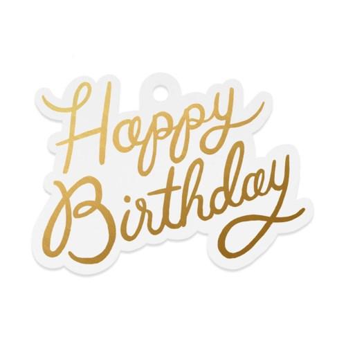 Pack of 8 Happy Birthday Die-Cut Gift Tags