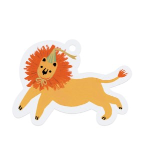 Pack of 8 Party Lion Die-Cut Gift Tags