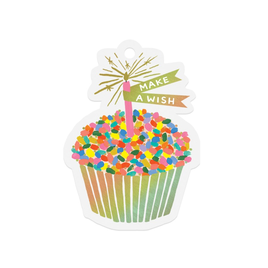 Pack of 8 Cupcake Die-Cut Gift Tags