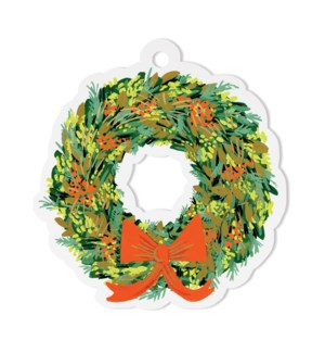 Pack of 8 Wreath Die-Cut Gift Tags