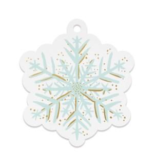 Pack of 8 Snowflake Die-Cut Gift Tags