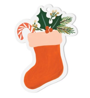Pack of 8 Stocking Die-Cut Gift Tags