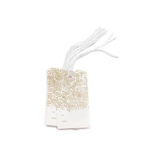 Pack of 10 Champagne Gift Tags