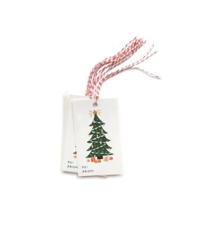 Pack of 10 Christmas Tree Gift Tags