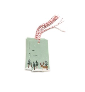 Pack of 10 Rudolph Gift Tags