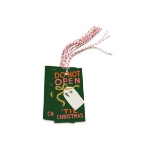 Pack of 10 Do Not Open 'Til Christmas Gift Tags