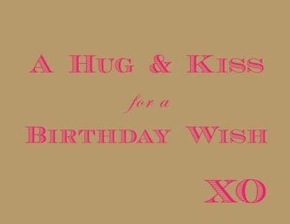 Birthday XO Wish letterpress 4.25x5.5|Halfpenny