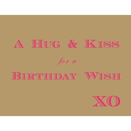 Birthday XO Wish|Halfpenny