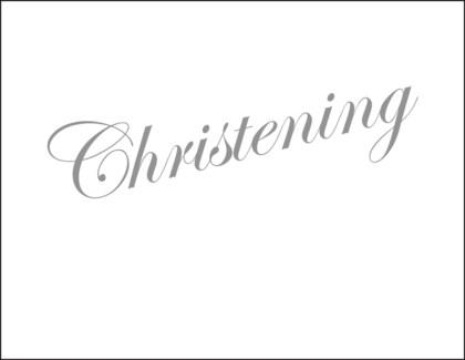 Christening letterpress 4.25x5.5|Halfpenny