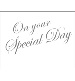 On Your Special Day!|Halfpenny