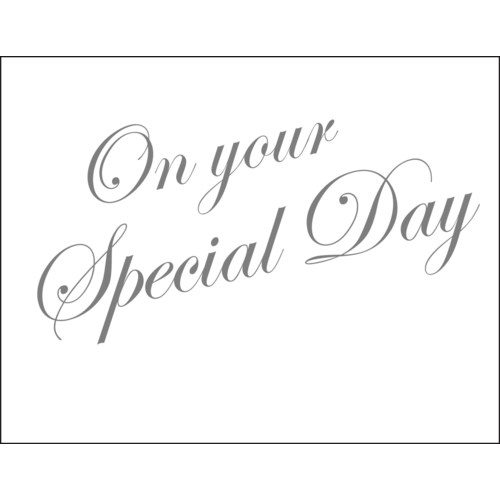On Your Special Day! letterpress 4.25x5.5|Halfpenny