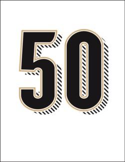 Fifty letterpress 4.25x5.5|Halfpenny