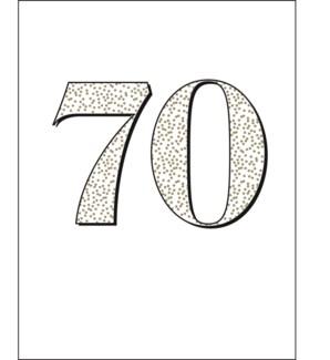 Seventy letterpress 4.25x5.5|Halfpenny