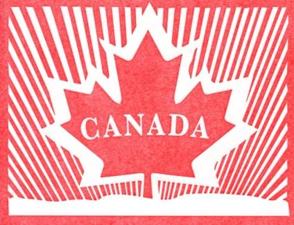 Canada Maple Leaf letterpress 4.25x5.5|Halfpenny