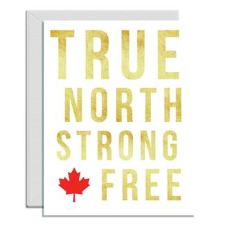 True North Strong letterpress 4.25x5.5|Halfpenny
