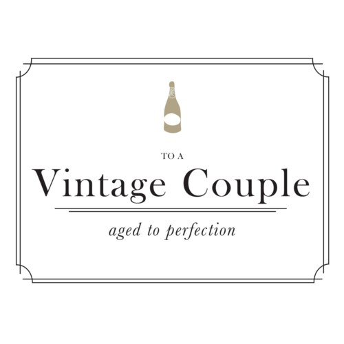 To a Vintage Couple 4.25x5.5|Halfpenny