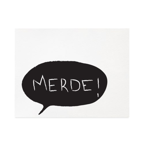 Merde Thought Bubble 4.25x5.5|Halfpenny