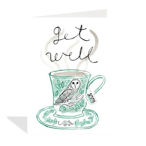 AoB Tea Get Well 4.25x5.5|Halfpenny