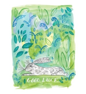 AoB Good Luck Rabbit 4.25x5.5|Halfpenny
