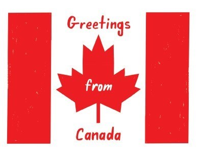 SF Greetings from Canada 4.25x5.5|Halfpenny