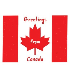 Greetings from Canada Halfpenny