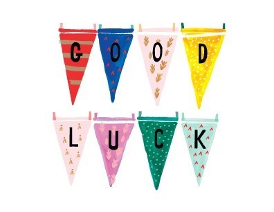 MB Good Luck Flags 4.25x5.5|Halfpenny