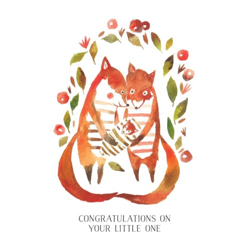 Fox Family New Baby|Loose Leaves