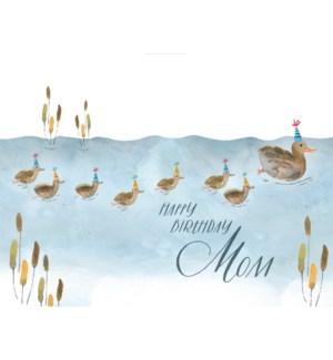 Ducklings Mom Birthday 4.25x5.5|Loose Leaves