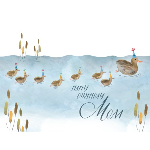 Ducklings Mom Birthday|Loose Leaves