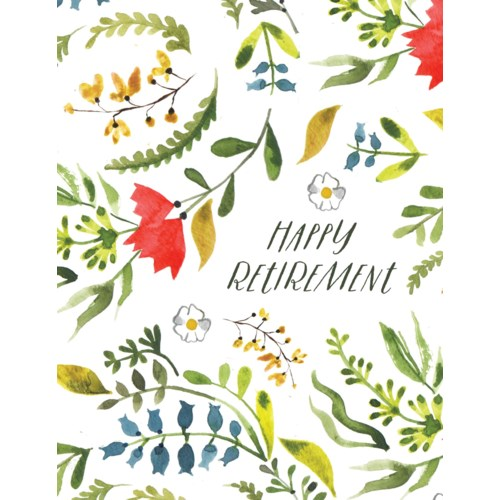 Retirement Floral 4.25x5.5|Halfpenny