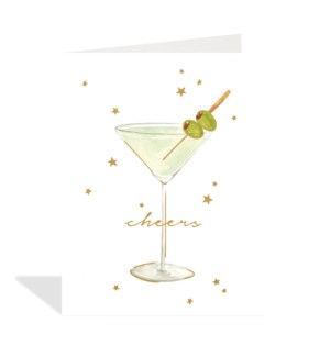 Martini watercolour cheers|Halfpenny
