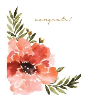 Floral watercolour congrats|Halfpenny