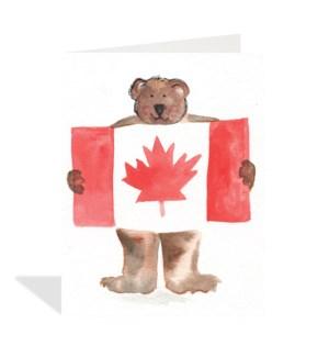 Bear Canada Flag|Halfpenny