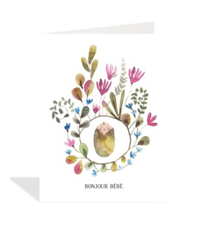 French Baby And Flowers|Halfpenny