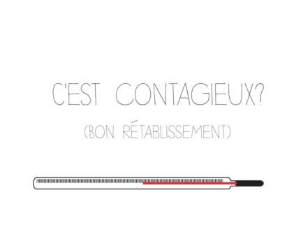 C'est Contagieux? letterpress 4.25x5.5|Halfpenny