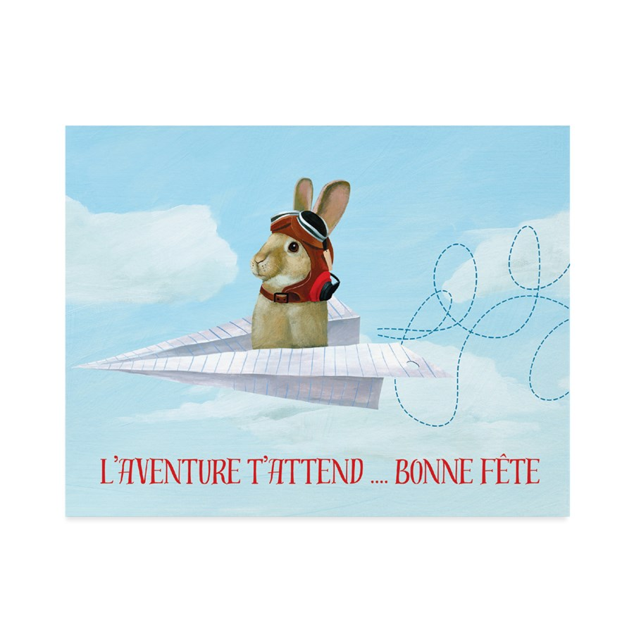 French Bunny In Paper Airplane|Halfpenny