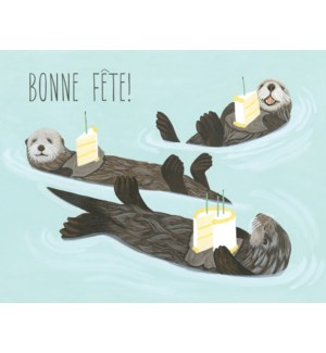 French Otters And Birthday Cake|Halfpenny