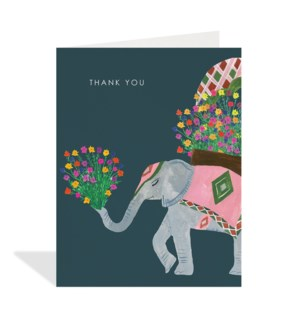Elephant and Flowers|Halfpenny