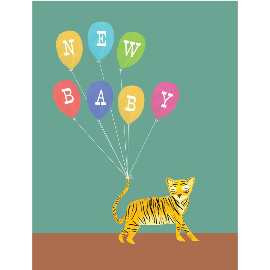 Tiger with Balloons|Halfpenny