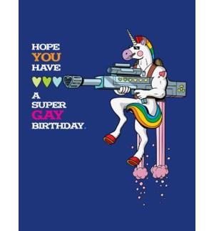 Unicorn Gay Birthday|Halfpenny
