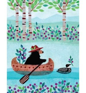 Bear In Canoe Halfpenny