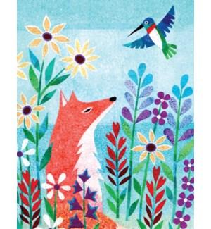 Fox And Hummingbird Halfpenny