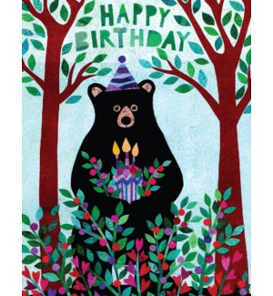 Bear And Cake Halfpenny
